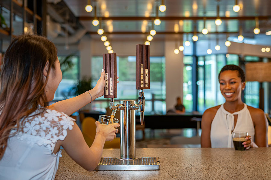 Access to the community kitchen with Nitro cold brew coffee on tap